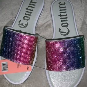 Juicy couture rainbow Sandals size 9